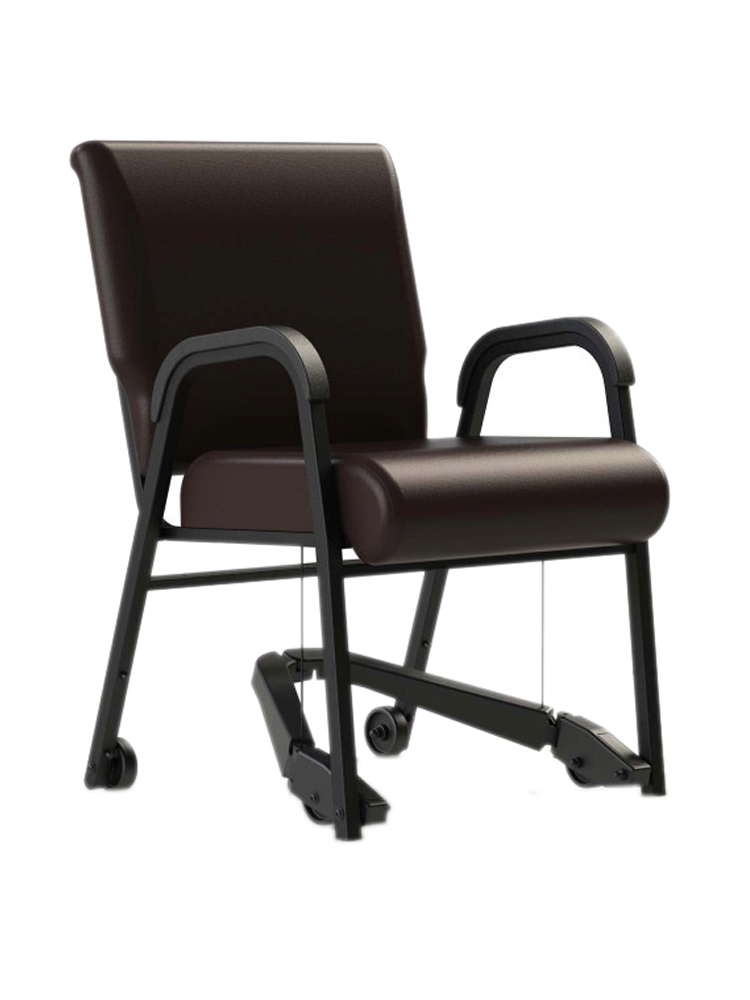 "Mobility Assist 18"" Chair, Armless Metal Frame with Vinyl"
