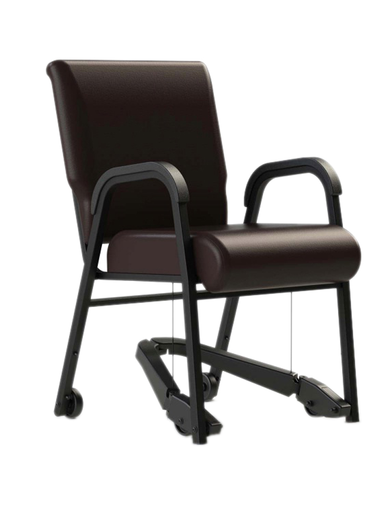 "Mobility Assist 20"" Chair, Armed Metal Frame with Vinyl"