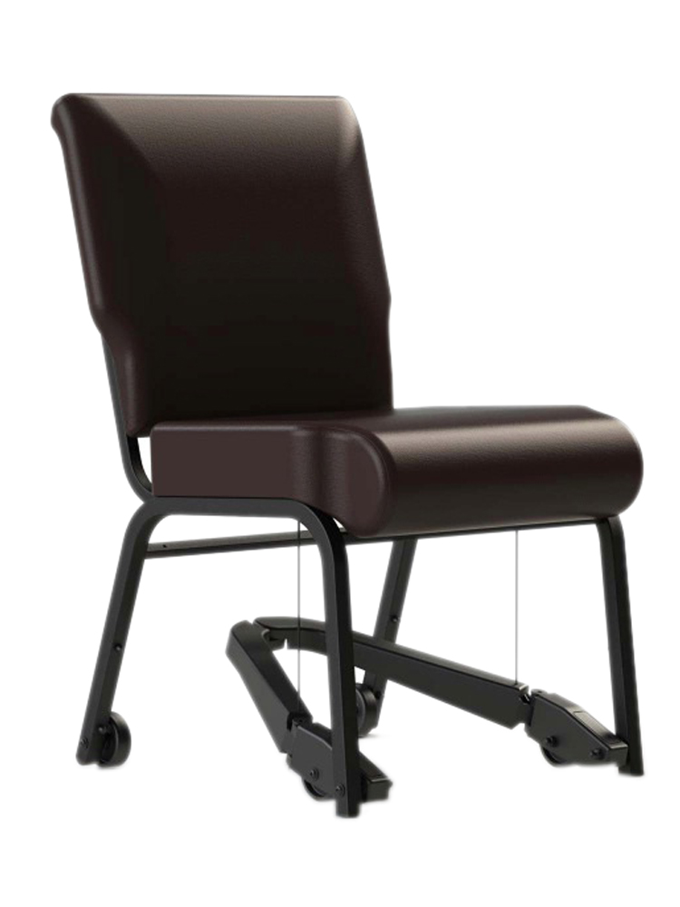 "Bariatric Mobility Assist 22"" Metal Armchair with Vinyl"