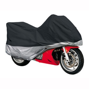 MOTORCYCLE COVER 2 TONE BLACK X-LARGE
