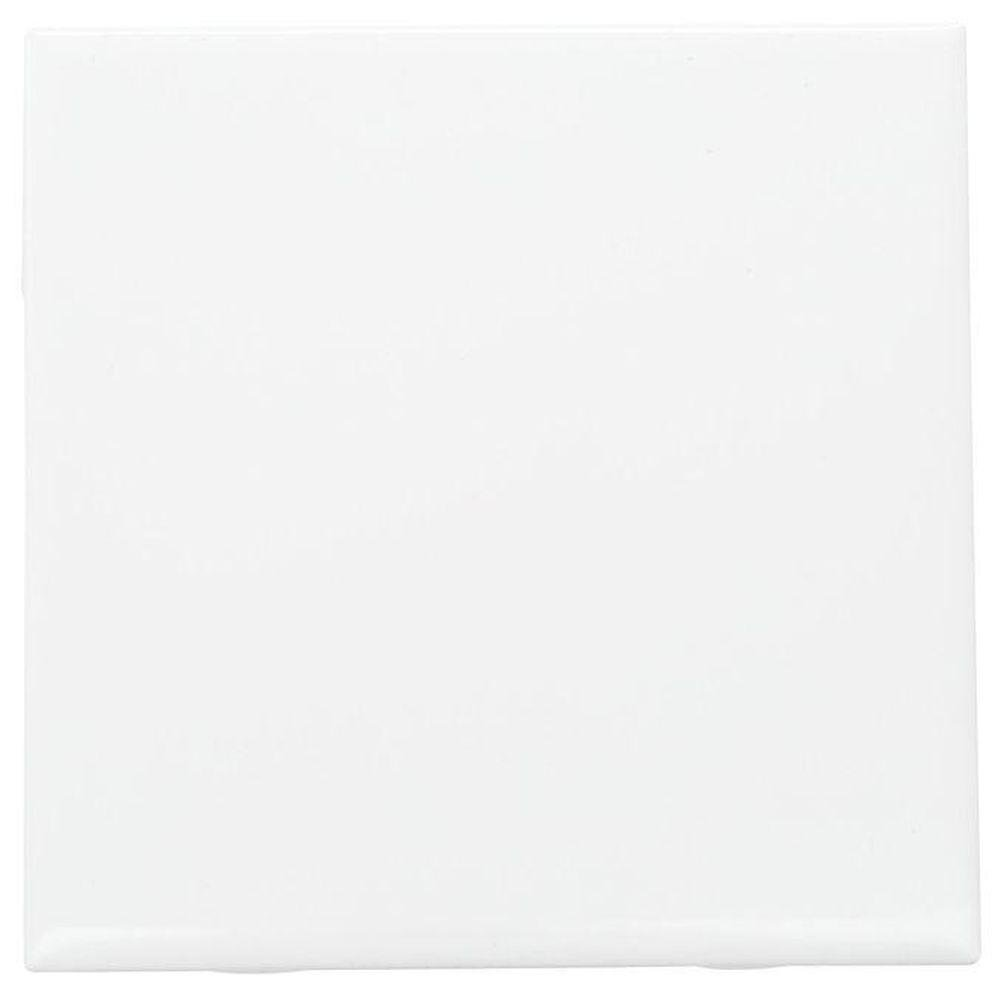 "Daltile Ceramic Wall Tile, White, 6""x6"""