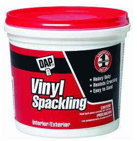 Only dap vinyl spackle white gallon 070798121331 for 12133 door knob