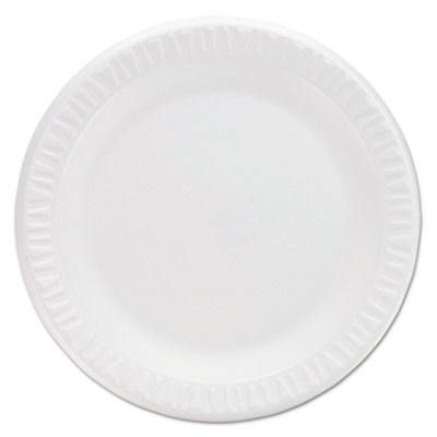 "Concorde Non-Laminated Foam Plates, 9""Diameter, White, 125/Pack"
