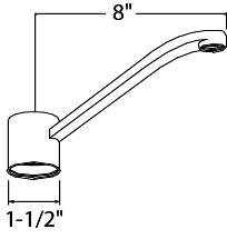 DELTA PEERLESS KITCHEN SPOUT FOR SINGLE HANDLE FAUCET