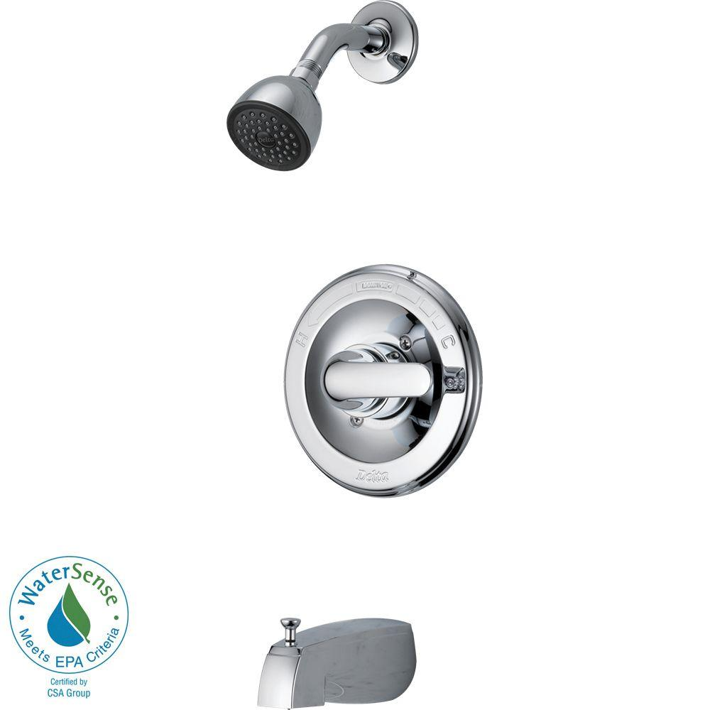 Only $109.07 TUB-SHOWER FAUCET SNGL CHROME 034449537582 134900 DELTA ...