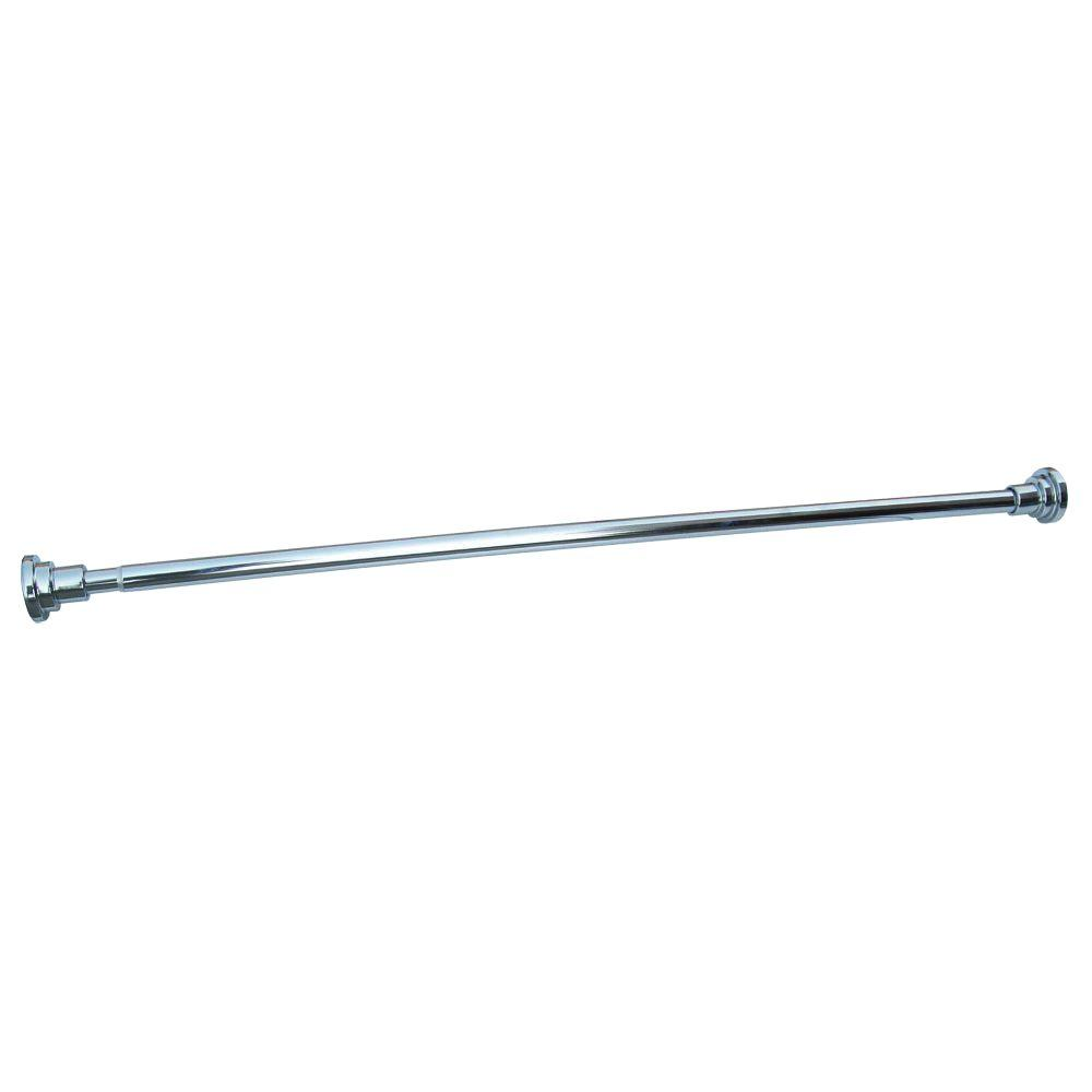 Adjustable Shower Rod, Polished Chrome