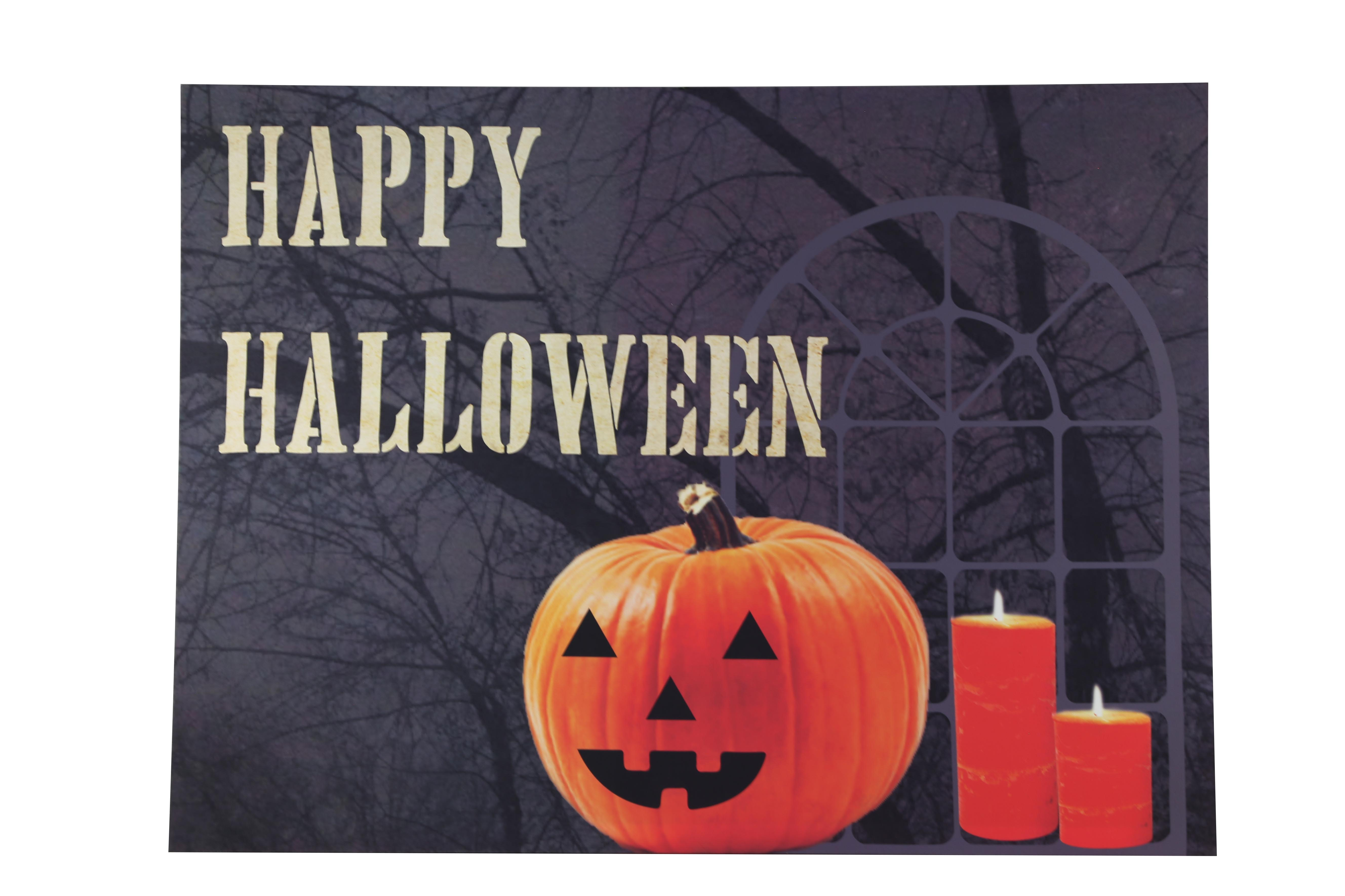 Design House Happy Halloween Lit Canvas Wall Decoration, 18x24-inches