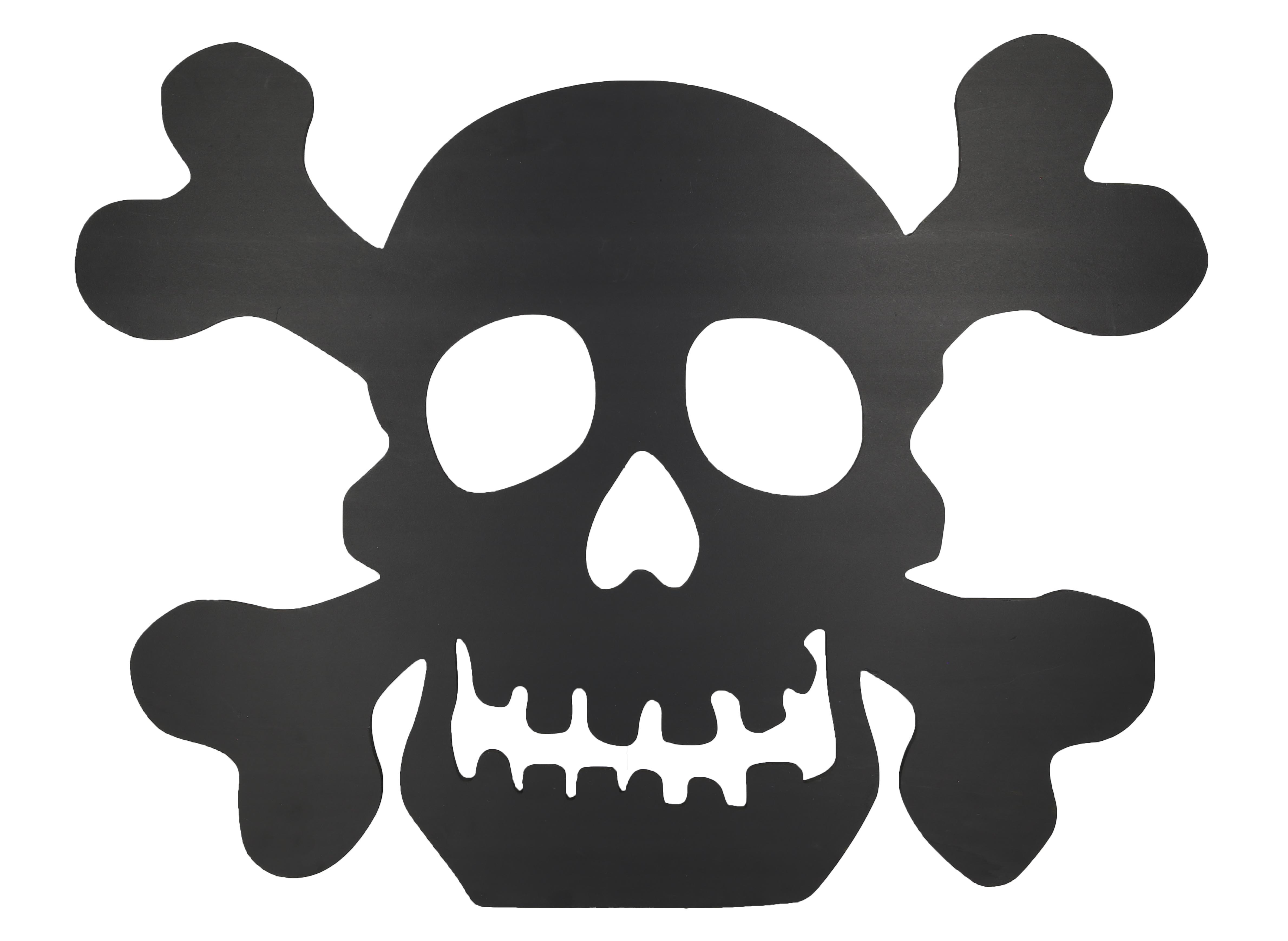 Design House Black Skull Silhouette Lawn Decoration, 23.6x30.3-inches