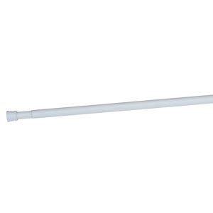 Adjustable Shower Rod, White