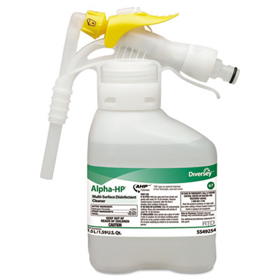 Alpha-HP Multi-Surface Disinfectant Cleaner, Citrus Scent, 1.5L Spray Bottle UOM