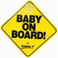 Dorel 48918 Safety Sign, Baby On Board, 5-1/2 in W x 7-1/2 in L