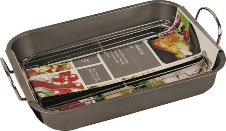 Euro-Ware EW553 Non-Stick Roaster With Rack, 14.6 in L x 11.4 in W x 2.3 in H