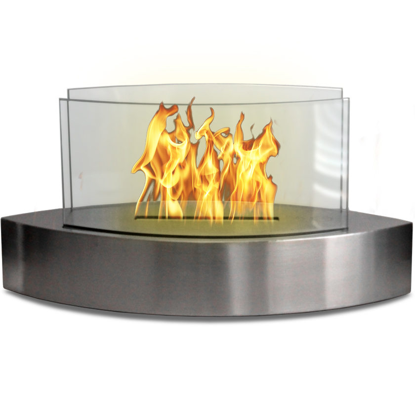 Only Lexington Table Top Bio Ethanol Fireplace Stainless Steel 898392002173 90217 Devco Llc