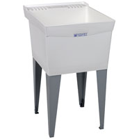 Utilatub 19F Deluxe Laundry/Utility Tub, 34 in H X 20 in W X 24 in D, Thermoplastic White
