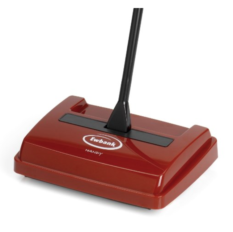 Ewbank 525USR Handy Sweeper Bagless Manual Floor and Carpet Sweeper, Red Finish