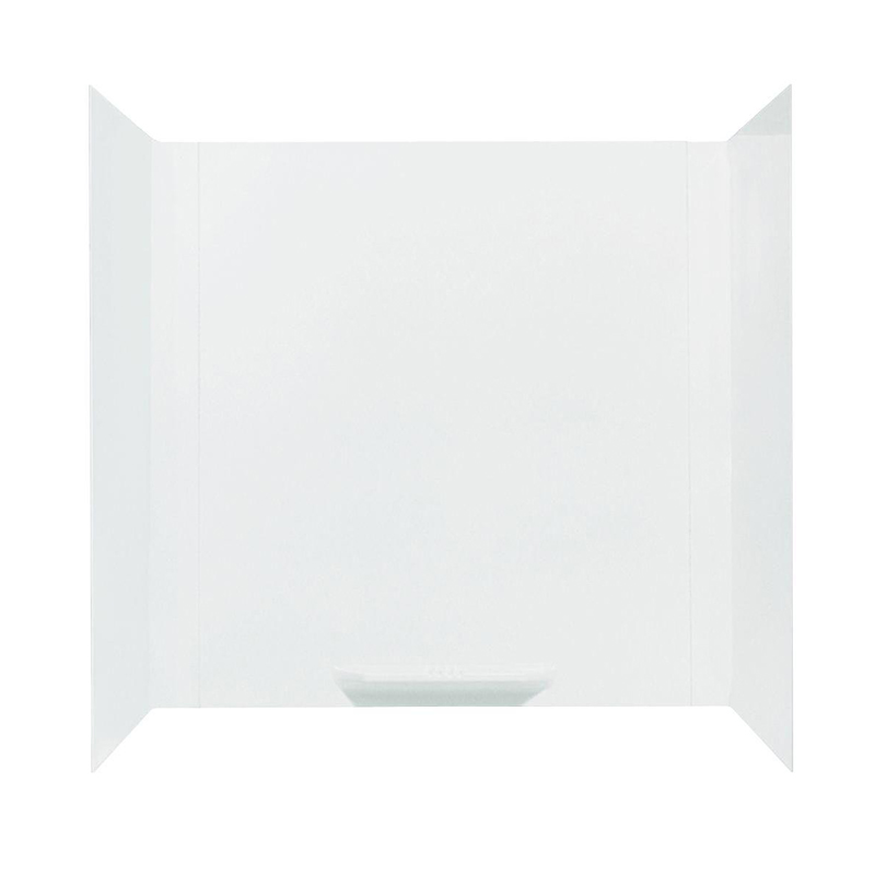 DURAWALL� FIBERGLASS BATHTUB WALL KIT, 3 PIECES, 1 SHELF, WHITE, 30 X 60 IN.