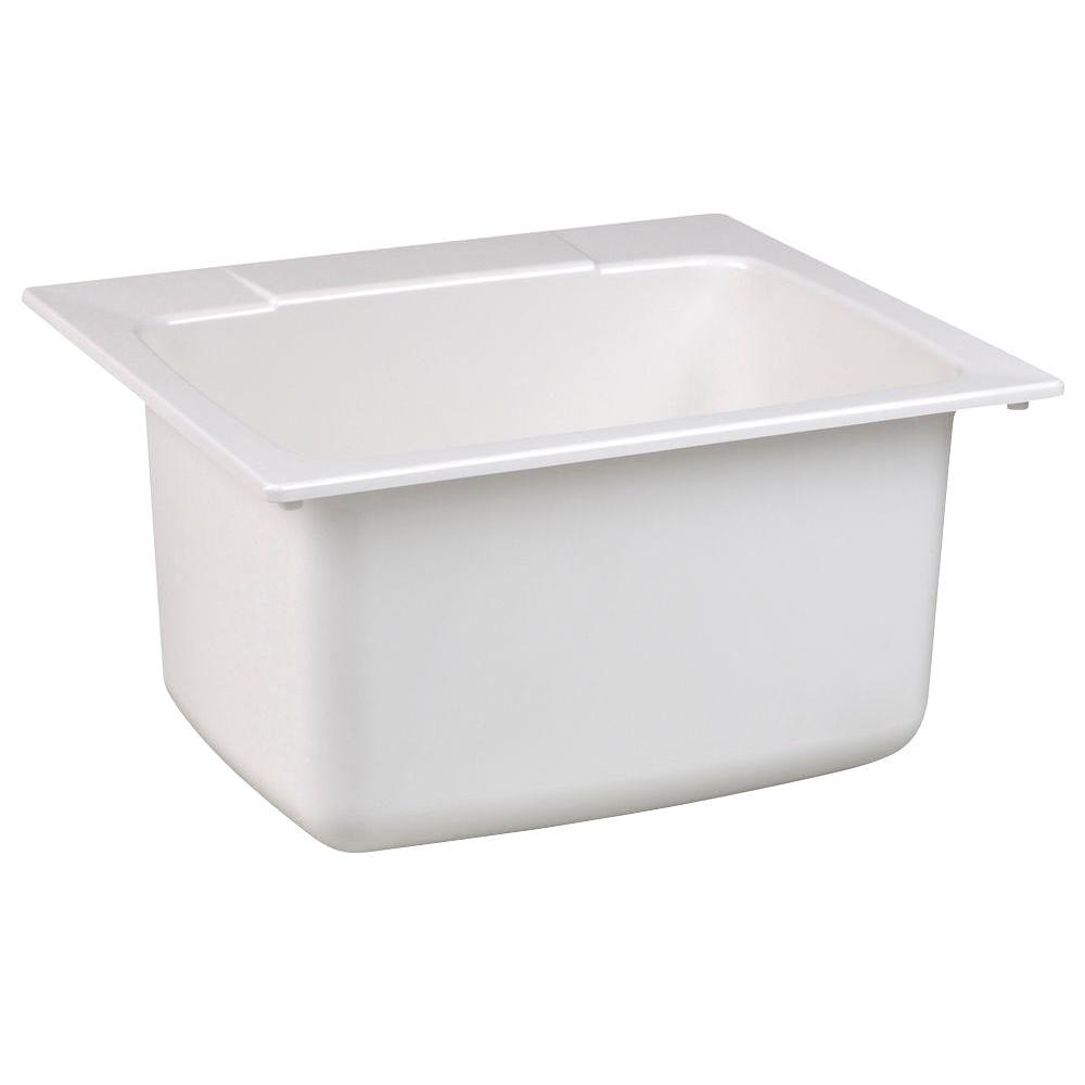 Only 74 85 El Mustee 17 Gallon Single Bowl Utility Sink 25 X 22 X