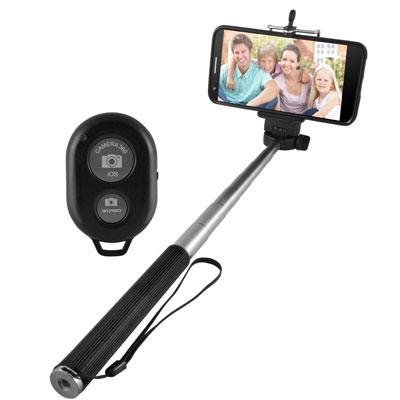 only selfie stick with bluetooth 817707016964 esst304 ematic. Black Bedroom Furniture Sets. Home Design Ideas