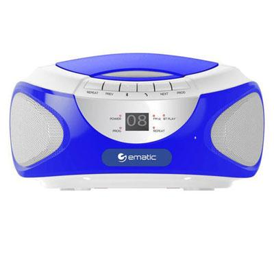 CD Bluetooth Boombox Blue