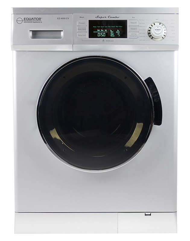 Equator 1.57 Cu. Ft. Compact 2013 Convertible Super Combo Washer with Venting/Condensing Drying in Silver
