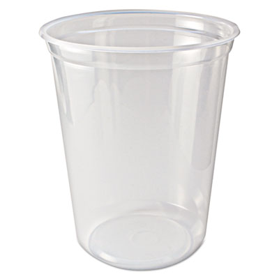 Microwavable Deli Containers, 32 oz, Clear, 500/Carton