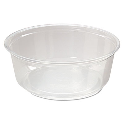 Microwavable Deli Containers, 8oz, Clear, 500/Carton
