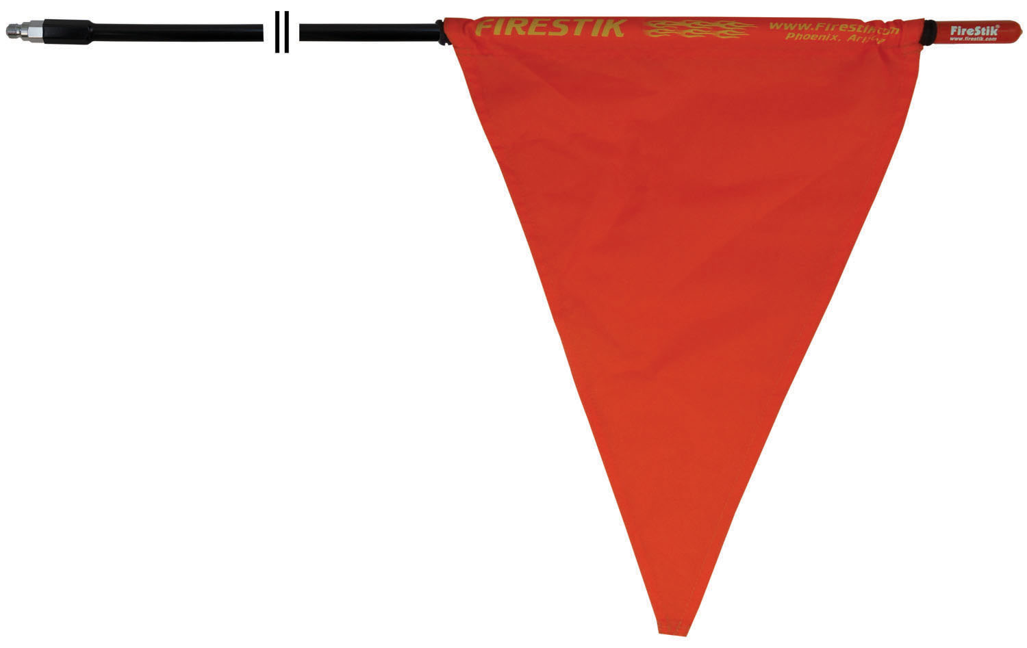 "FIRESTIK 5 FOOT 3/8""X24"" THREAD BLACK MAST WITH ORANGE SAFETY FLAG"