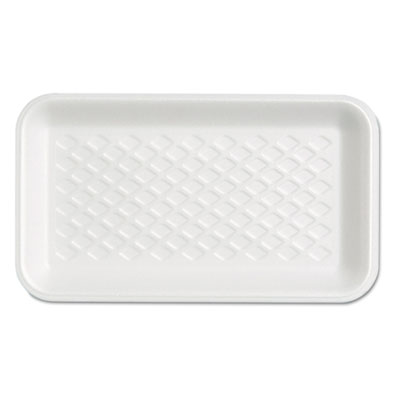 Supermarket Tray, Foam, White, 8-1/4x4-3/4x5/8, 125/Bag
