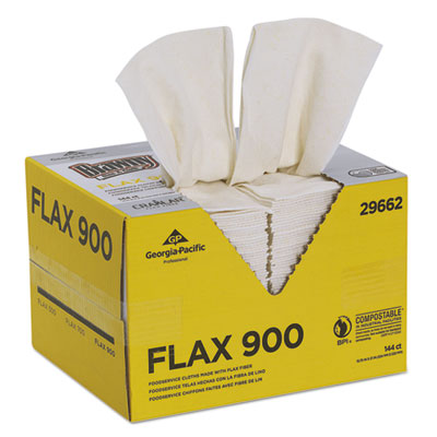 Dine-A-Cloth FLAX Foodservice Wipers, 12 3/4 x 21, White, 144/Box
