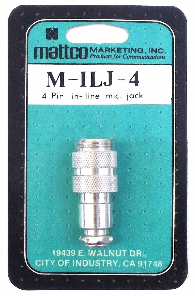 MATTCO 4 PIN IN-LINE MICROPHONE JACK