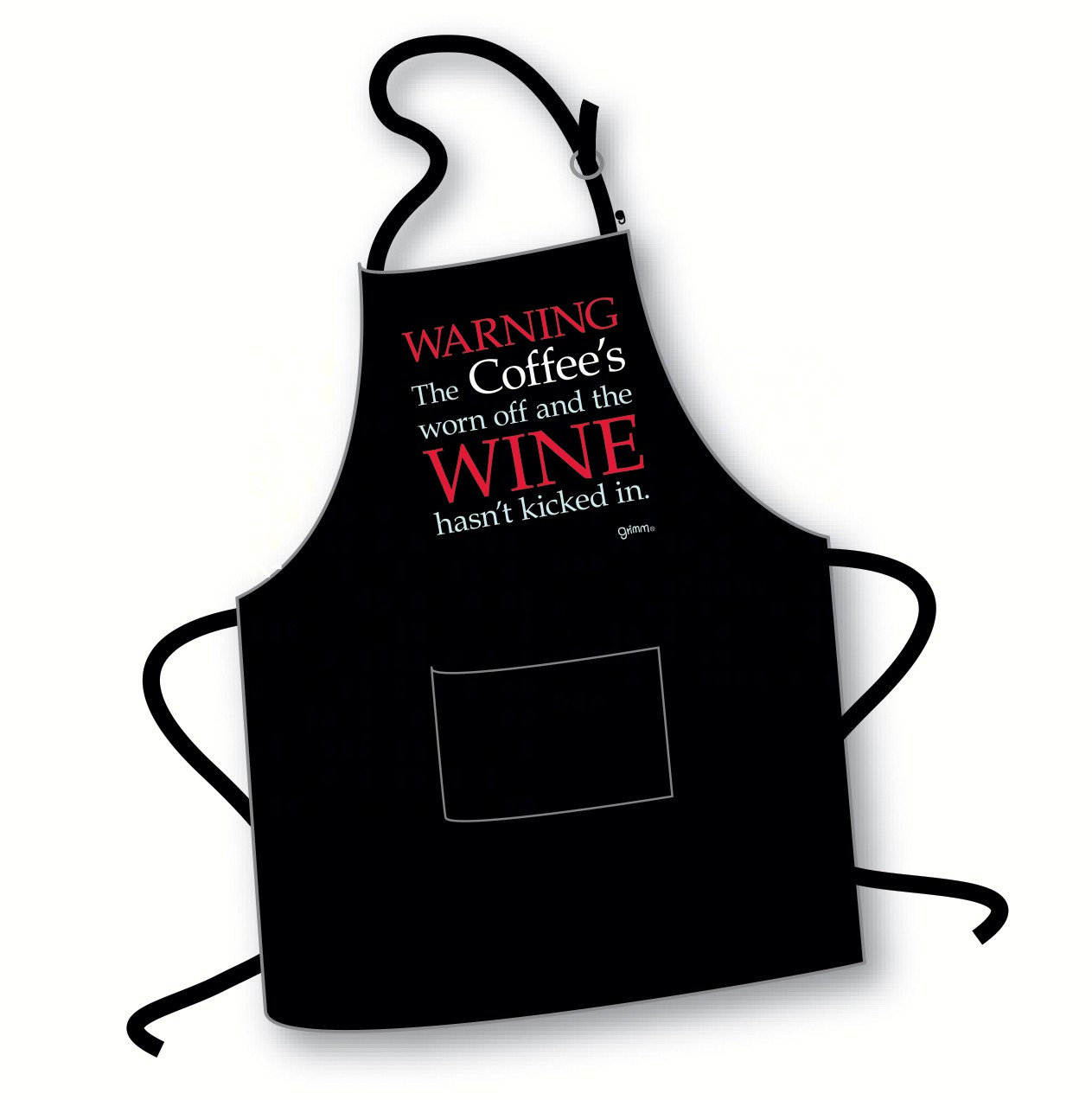Warning.. The Coffee's Worn Off and the Wine Hasn't Kicked In Apron