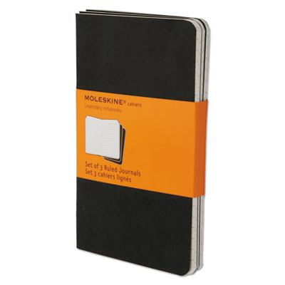 Cahier Journal, Ruled, 5 1/2 x 3 1/2, Black Cover, 64 Sheets