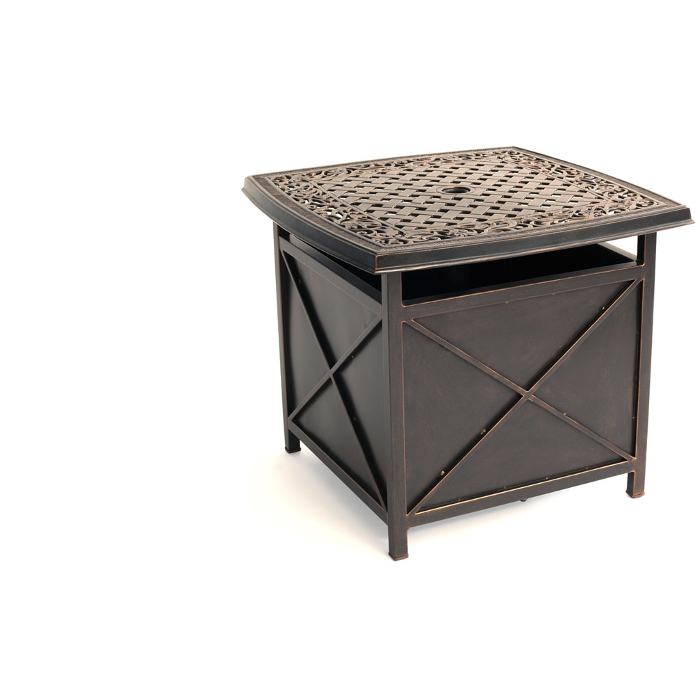 Traditions Cast Top Umbrella Side Table