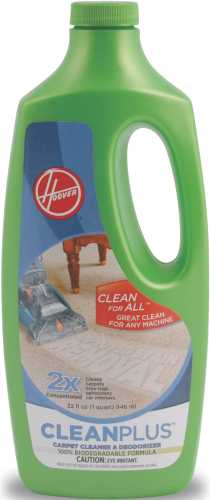 HOOVER CLEANPLUS 2X CARPET CLEANER AND DEODORIZER 32 OZ