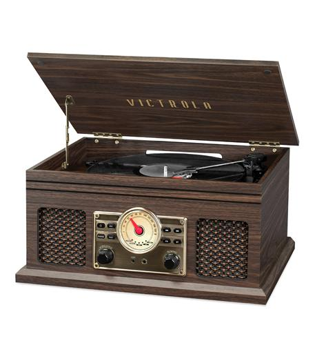 Victrola 4in1 BT Turntable- FM- Espresso