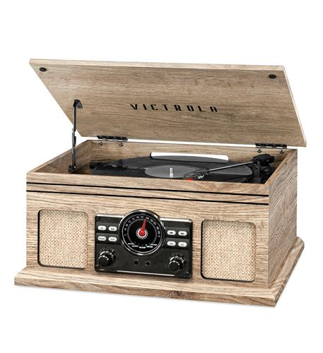 Victrola 4in1 BT Turntable- FM- Oatmeal
