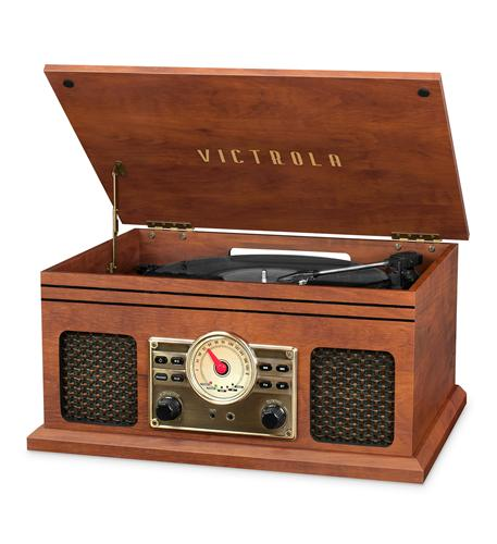 Victrola 4in1 BT Turntable- FM- Mahogany