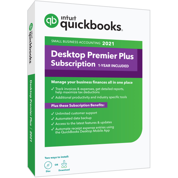 QB Desktop Premier Plus 2021