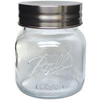 Ball 1440070017 Super Wide Mouth Storage Canning Jar With Lid, 64 oz, 5-3/4 in W x 6-1/2 in H, Glass