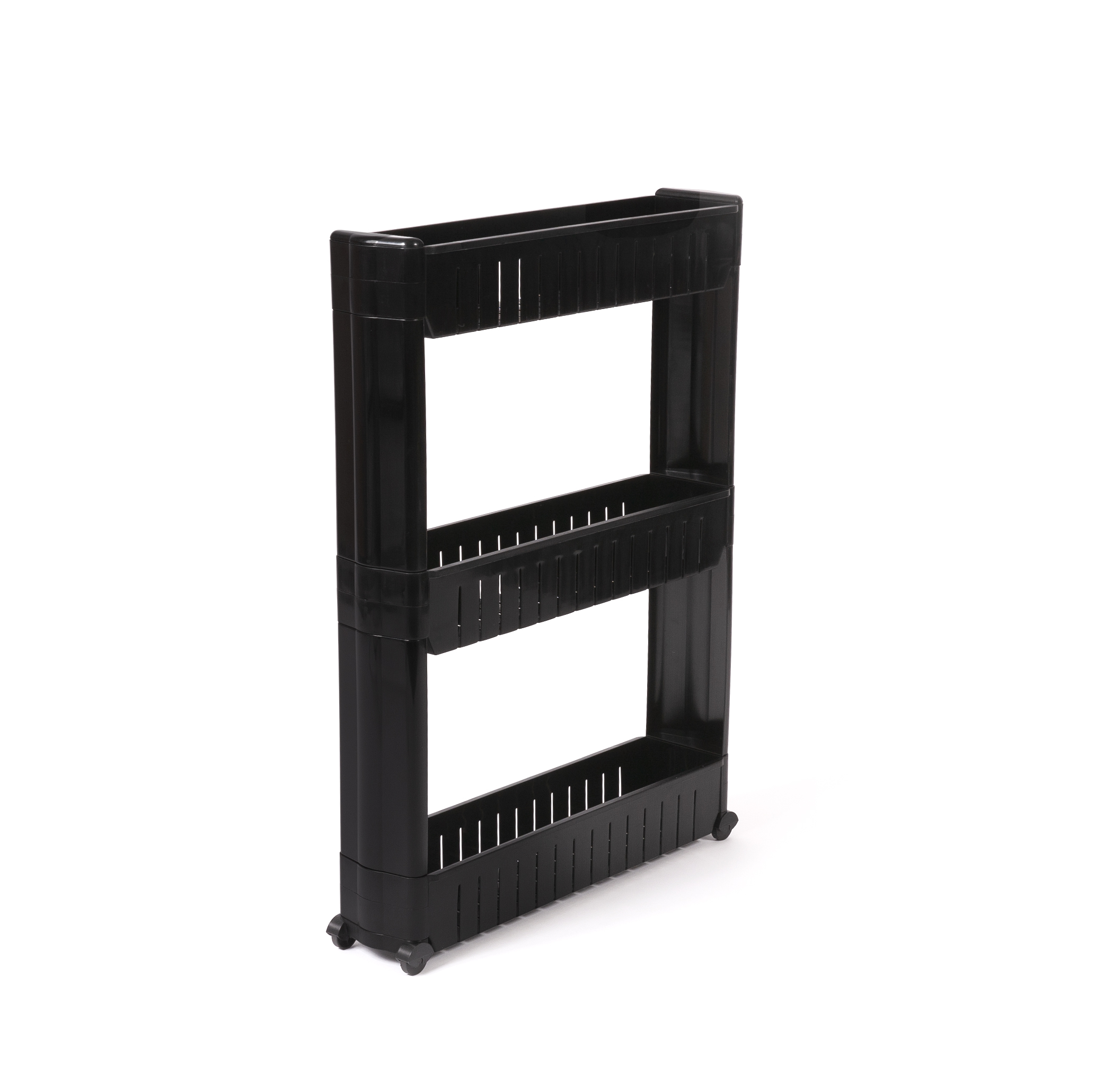 IDEAWORKS ZB6032BLK 3 TIER SLIDE OUT STORAGE TOWER FOR