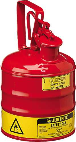 TYPE 1 RED STEEL SAFETY CAN FOR FLAMMABLES 1 GALLON
