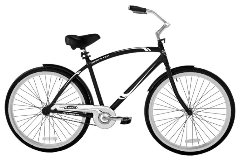 BIKE CRUISER MENS ALUMINUM BLACK 26IN