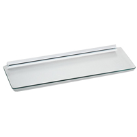 Knape & Vogt 89 1-Piece Decorative Straight Shelf Kit, 24 in L X 8 in W, Tempered Glass