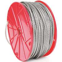 Koch 16162 Aircraft Cable, 3/16 in Dia x 250 ft L, 840 lb
