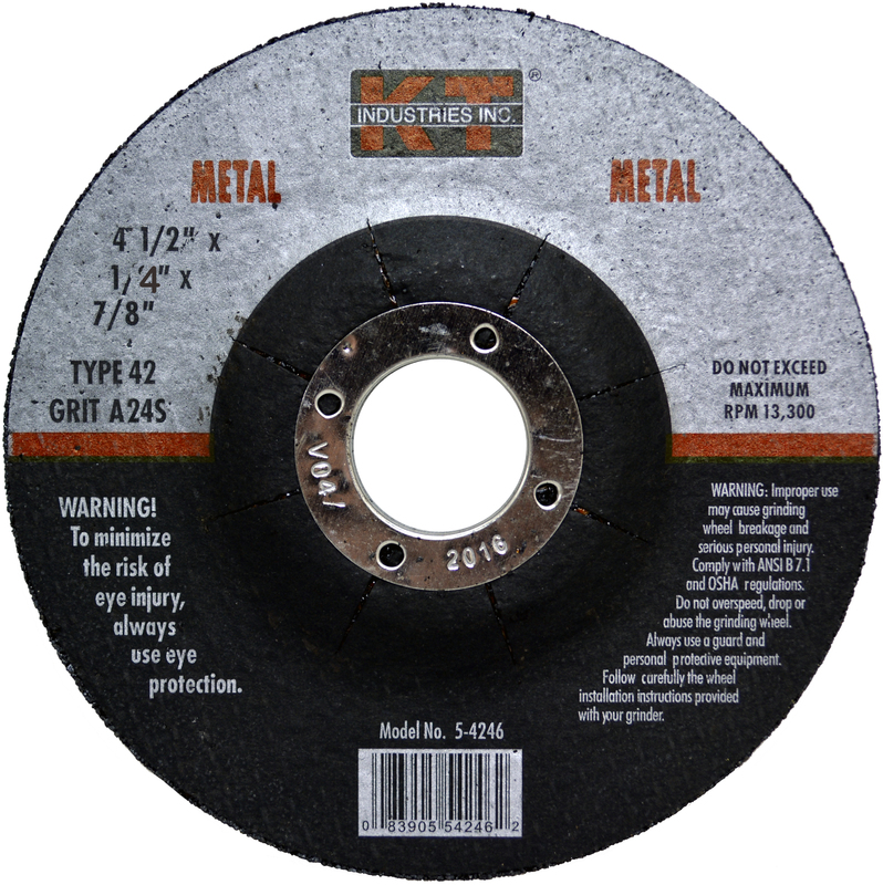 KT Industries 5-3340 Coarse Crimped Wire Brush Wheel 4 x 5//8-11 for Angle Grind