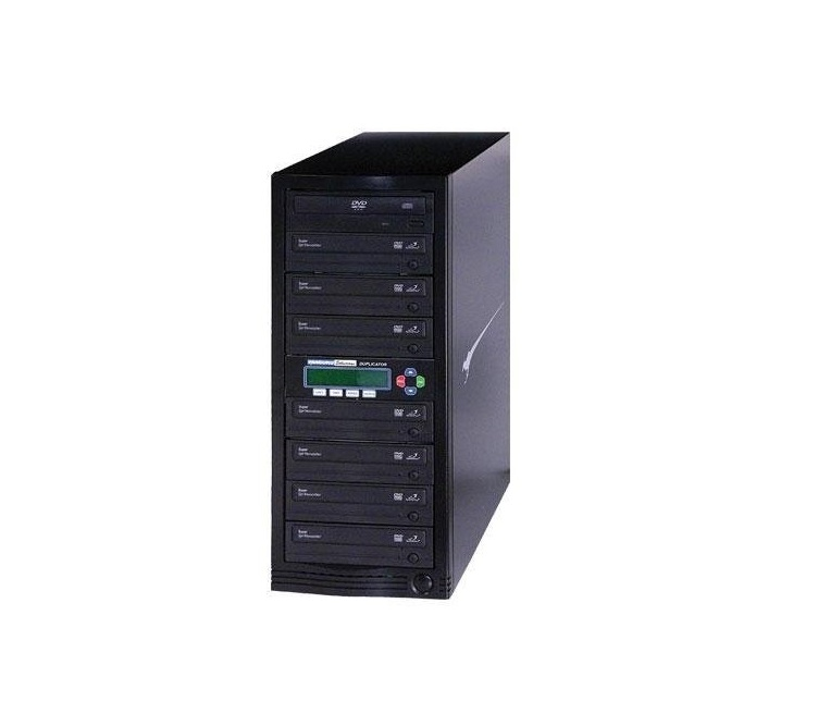 Kanguru Solutions 1-to-7 24x CD/DVD Duplicator USB 2.0(Black U2-DVDDUPE-S7
