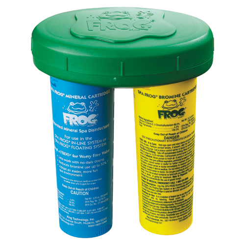 Chemical Feeder, Floating, Spafrog, Mineral/Bromine Cartridge