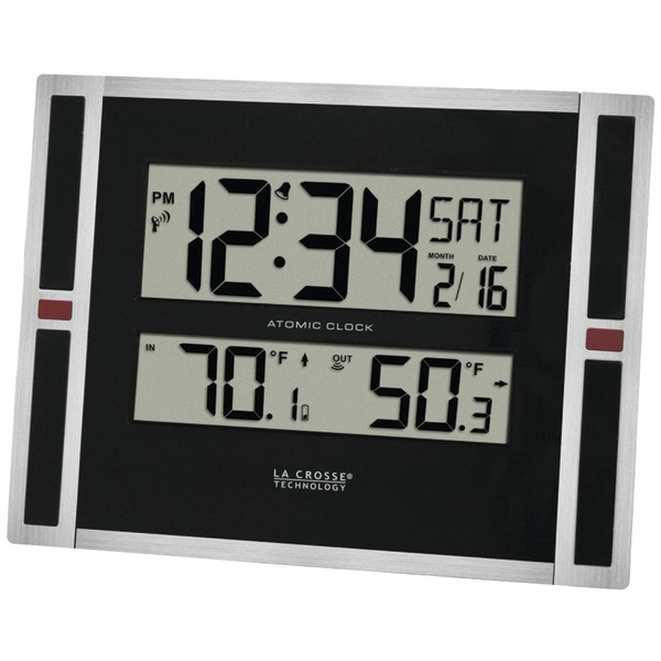 LA CROSSE TECHNOLOGY 513-149 Indoor/Outdoor Thermometer & Atomic Clock