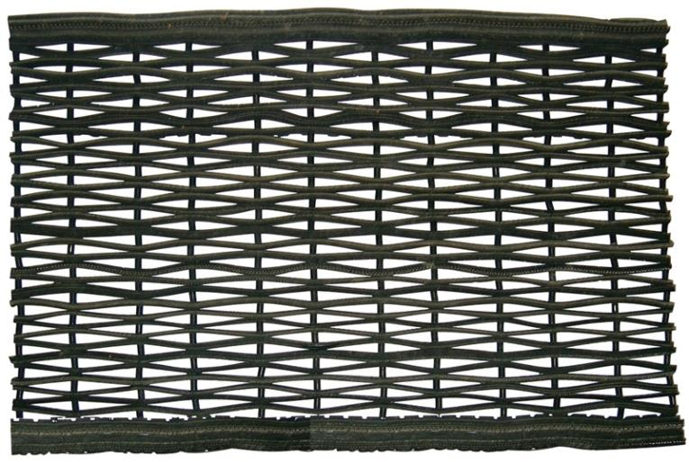 Dennis RTI1830 Scraper Floor Mat, 30 in L X 18 in W X 3/4 in T, Recycled Rubber Tire, Black