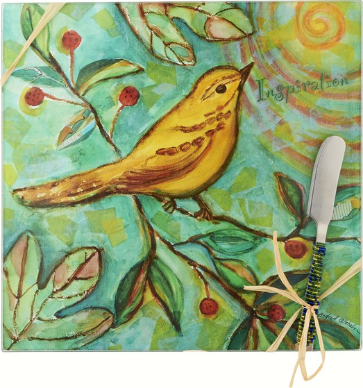 Cheese Board - Bird - Inspiration - Square 9 Inch